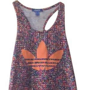 Adidas Originals colorful mini tank dress